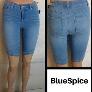High Waist Bermuda Shorts By Blue Spice Size 1